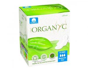 Absorbante intime Organyc din bumbac organic pentru zi 10 bucati