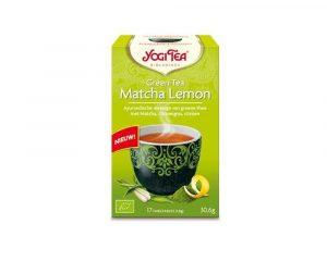 Ceai Bio verde matcha cu lamaie Yogi Tea 30.6 grame