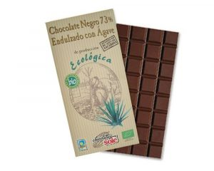 Ciocolata neagra BIO 73% cacao cu sirop de Agave  100 grame