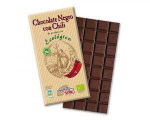 Ciocolata neagra BIO 73% cacao cu chili 100 grame
