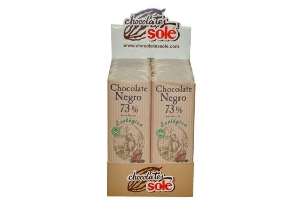 Mini tableta ciocolata neagra BIO 73% cacao 25 grame