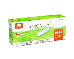 Tampoane Organyc SUPER PLUS din bumbac organic 16 bucati