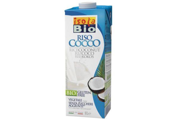 Băutură bio din orez cu nucă de cocos fara zahar Isola Bio 1000 ml