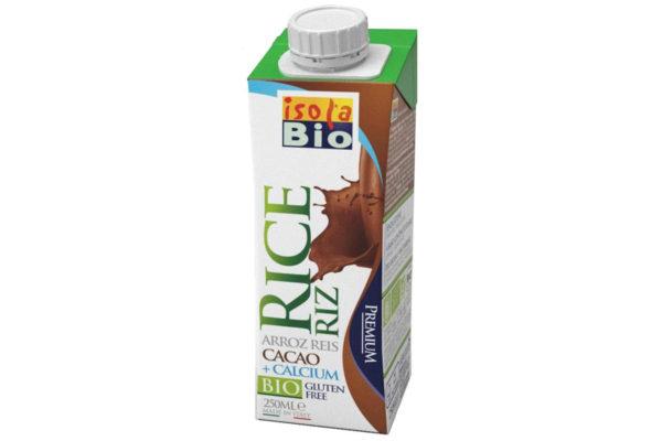 Băutură bio din orez, calciu şi cacao fara zahar Isola Bio 250 ml