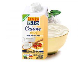 Cremă bio din orez pentru gătit Isola Bio 200 ml