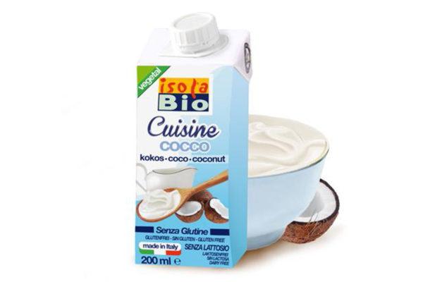Cremă bio din nucă de cocos pentru gătit Isola Bio 200 ml