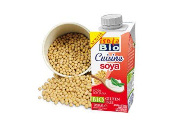 Cremă bio din soia pentru gătit Isola Bio 200 ml
