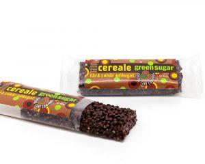 Baton cereale cu cacao și Green Sugar 40 gr