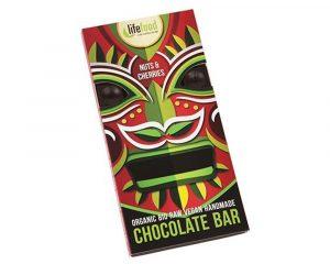 Ciocolată cu cireșe și nuci raw bio 70g