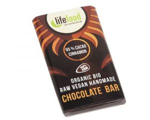 Ciocolată MINI cu 95% cacao și scorțișoară raw bio 15g