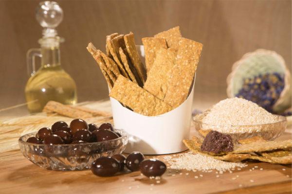 Crackers vegani cu măsline kalamata Hiper Ambrozia 125 gr