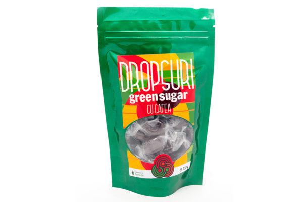 Dropsuri Green Sugar cu cafea, fără zahăr, 150 gr