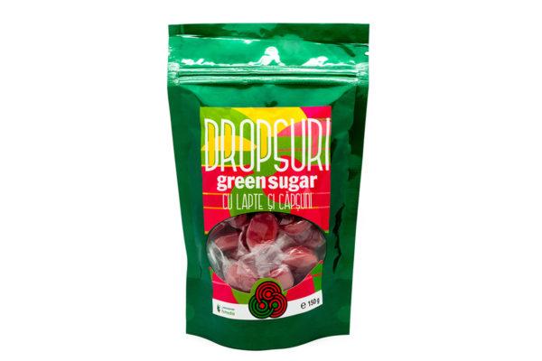 Dropsuri Green Sugar cu căpşuni cafea, fără zahăr, 150 gr