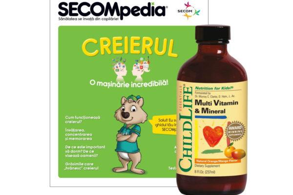 Multi Vitamin & Mineral gust de portocale/mango Secom 237 ml
