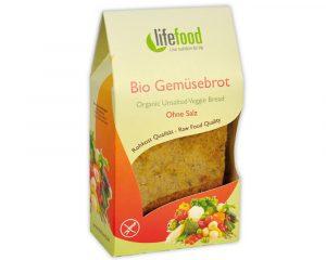 Pâine raw cu legume fără sare bio 90g