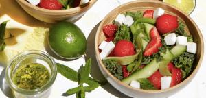 Salata cu capsuni si pepene