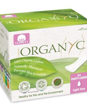 Absorbante zilnice subtiri Organyc din bumbac organic ambalate individual 24 bucati