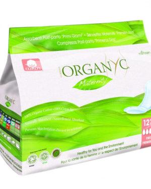 Absorbante intime Organyc din bumbac 100% organic pentru perioada de dupa nastere 12 bucati