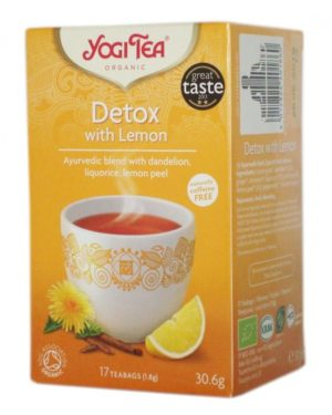 Ceai Bio Detoxifiant cu lamaie Yogi Tea 30.6 grame
