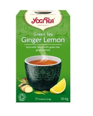Ceai Bio verde cu ghimbir si lamaie Yogi Tea 30.6 grame