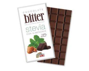 Ciocolata cu migdale indulcita cu stevie minim 72% cacao 100 grame