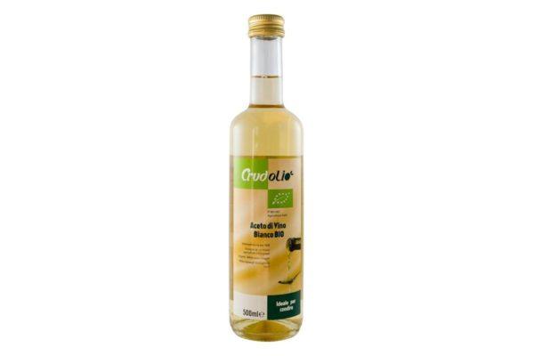 Otet bio din vin alb Crudolio 500 ml