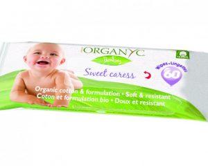 Servetele umede Organyc Baby 60 bucati