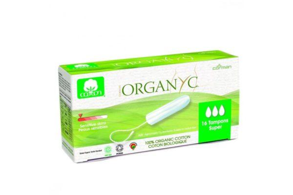 Tampoane Organyc SUPER din bumbac organic 16 bucati