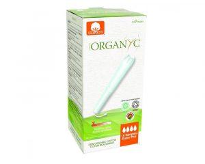 Tampoane Organyc SUPER PLUS din bumbac organic cu aplicator 14 bucati