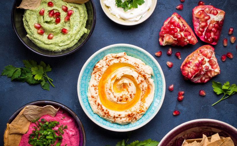 Hummus in 3 culori