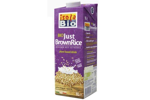 Băutură bio din orez brun fara zahar Isola Bio 1000 ml