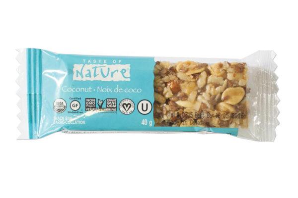 Baton bio cu cocos Taste of Nature