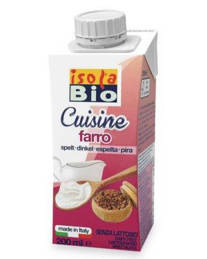 Cremă bio din spelta pentru gătit Isola Bio 200 ml