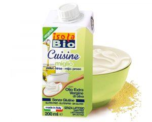 Cremă bio din mei pentru gătit Isola Bio 200 ml