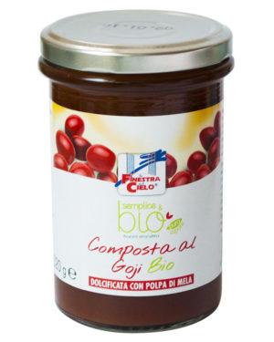 Gem bio de goji îndulcit cu pulpă de mere 320 gr