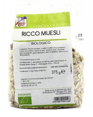 Musli bio (fulgi ovăz, grâu, orez, orz, hrişcă) 375 gr
