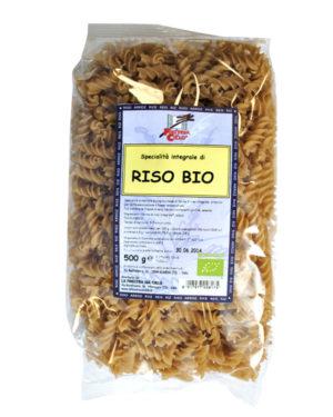 Paste bio Fusilli din orez integral 500 gr