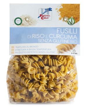 Paste Fusilli bio din orez cu turmeric 250 gr