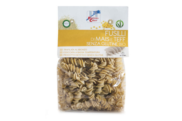 Paste Fusilli bio din porumb și teff 250 gr