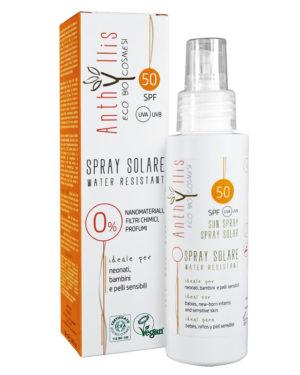 Spray protecţie solară ECO BIO SPF 50 pentru bebe şi copii Anthyllis