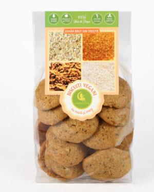 Biscuiţi vegani cu nucă şi orez Hiper Ambrozia 150 g