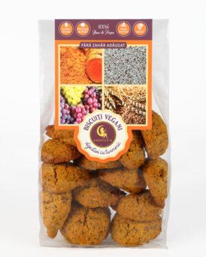 Biscuiţi vegani digestivi cu mac şi turmeric Hiper Ambrozia 150 g
