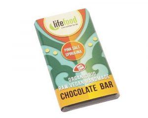 Ciocolată MINI cu spirulină și sare de Himalaya raw bio 15g