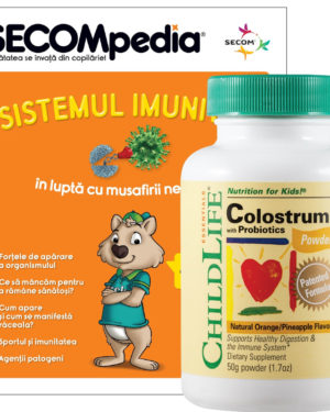 Colostrum plus Probiotics pudra gust de portocale/ananas Secom 50 gr