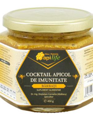 Cocktail Apicol pentru creşterea sistemului imunitar la bărbaţi Apilife 450 gr
