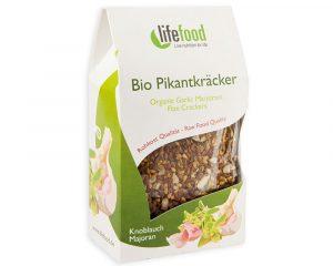 Crackers cu usturoi și maghiran raw bio 90g