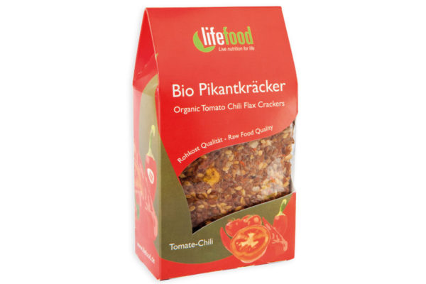 Crackers cu chilli și roșii raw bio 90g