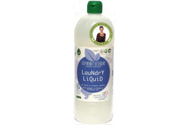 Detergent ecologic lichid pentru rufe albe și colorate lămâie 1L