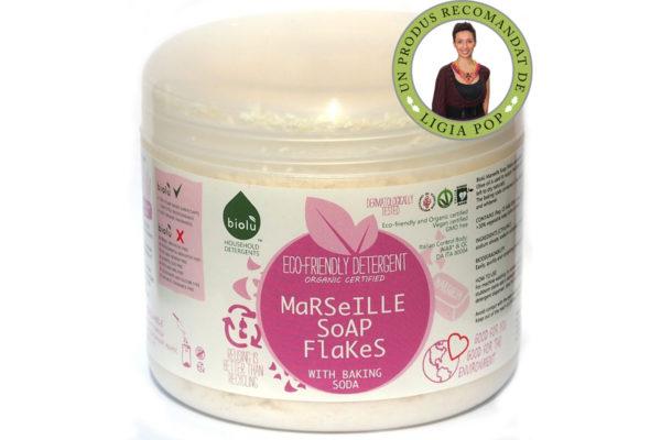 Fulgi de sapun de Marsilia ecologici pentru spalat rufe 350g