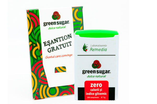 Îndulcitor Green Sugar 200 Comprimate + Cadou